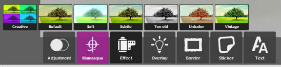 Pixlr Effect options
