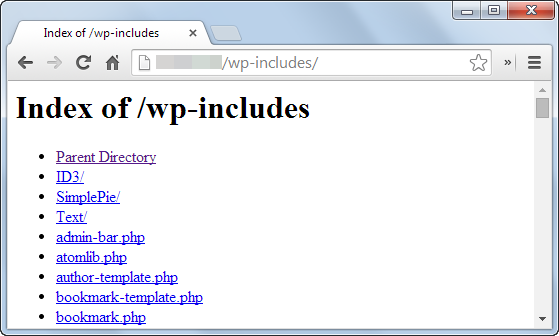 Disable directory browsing in wordpress risk
