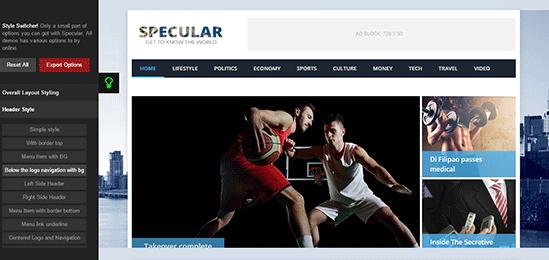 Specular Online Builder