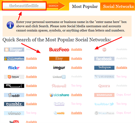 Using KnowEm To Find Social Networks With Your Blog Name Available