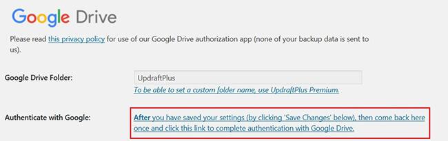 google drive remote storage location