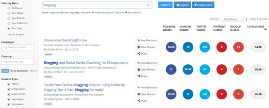 BuzzSumo Popular Content Ideas