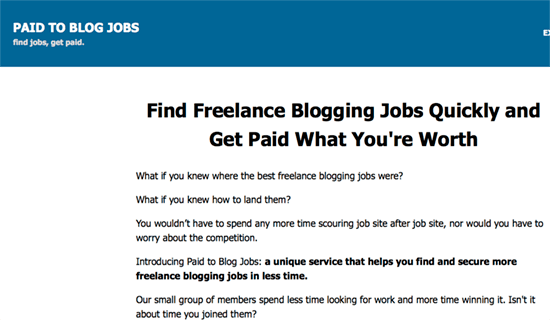 paid to blog