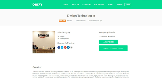Jobify Job Page