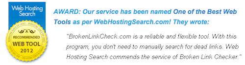 broken link check award