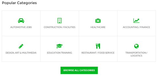 WorkScout Categories