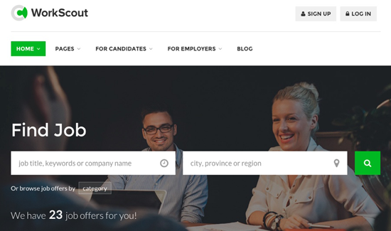 WorkScout WordPress job board theme