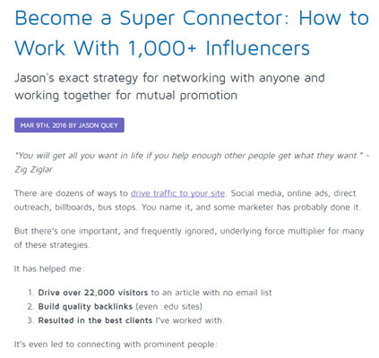 Become A Super Connector