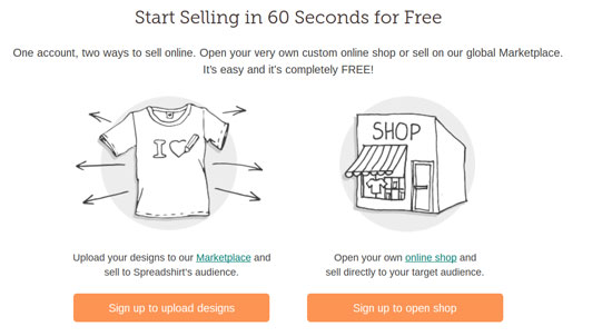 T Shirt Shop With WordPress Sign Up To Open Shop