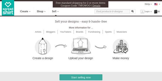 T Shirt Shop With WordPress Spreadshirt.com
