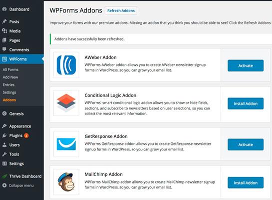 WPForms Addons