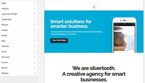 X Theme WordPress Theme Customizer
