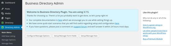 Configure Manage Options