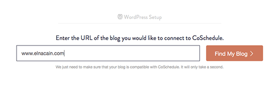 CoSchedule asking WP site