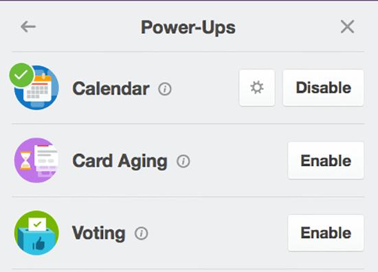 Trello enable calendar