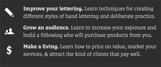 Hand Lettering: Improve your lettering, grow an audience, make a living.