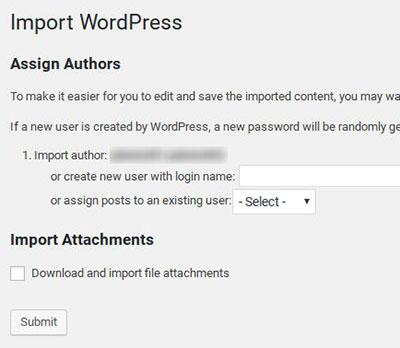 Import WordPress Options