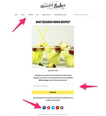 Minimalist Baker Landing Page