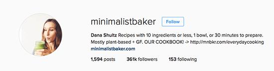 Minimalist Instagram