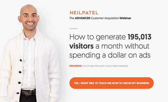 Neil Patel Landing Page