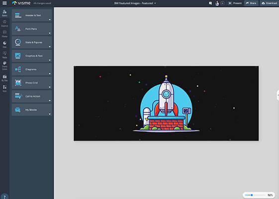 Visme Visual Editor