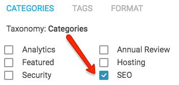 Target categories