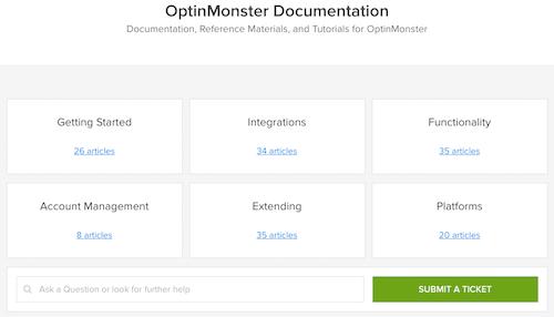 optinmonster support docs