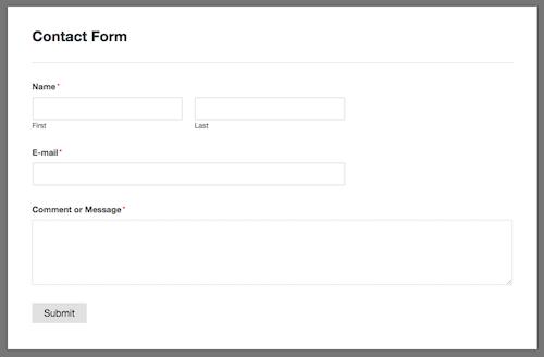 1c WPForms contact form-1