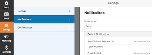 1i WPForms settings