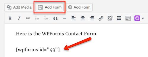 1j WPForms add form