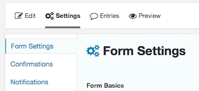 2d gravity forms form settings