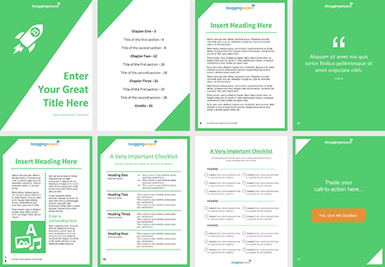Blogging Wizard Lead Magnet Templates