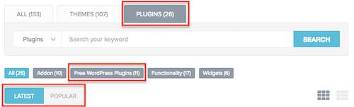 4 Plugins Filter Sort