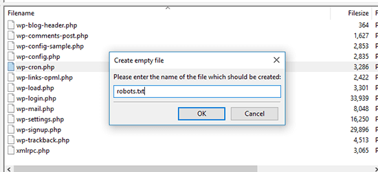 Create Empty File