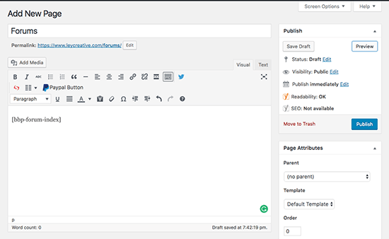 Method 2 Adding New Forum