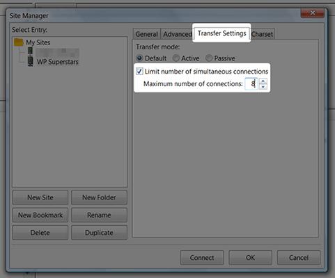 filezilla transfer settings
