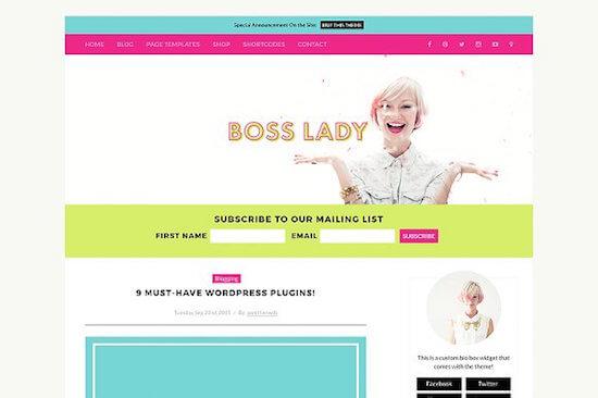 Boss Lady Theme