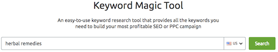 4f semrush Keyword Magic Tool