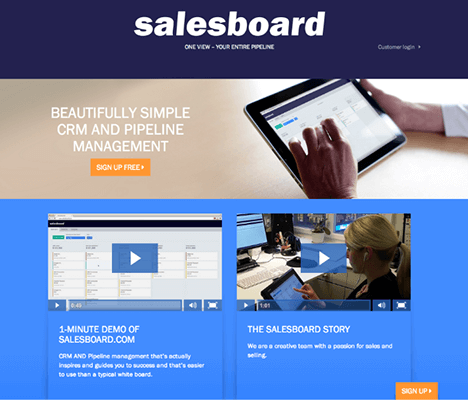 22 Salesboard Example