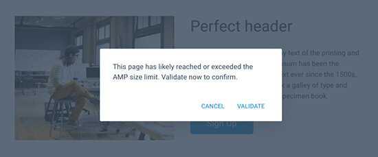 Build Validated AMP Pages