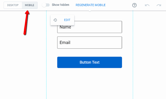 Generate Mobile Version