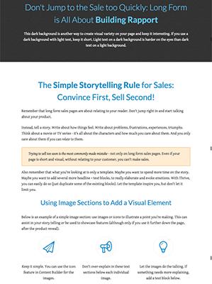 Longform Sales Page Copy Example