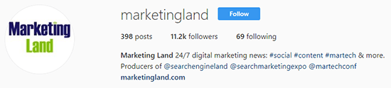 Marketing Land Instagram