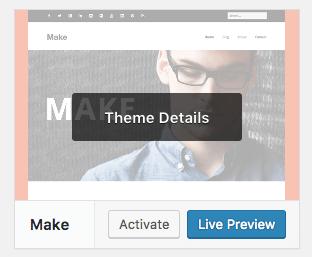 WP Admin Theme Details