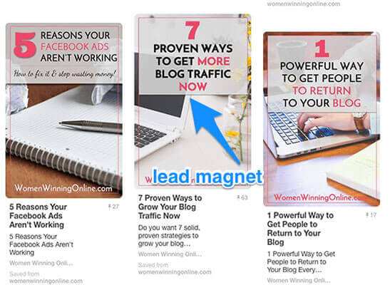 pinterest lead magnet