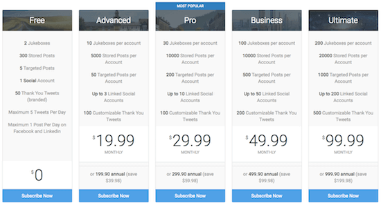 social jukebox pricing