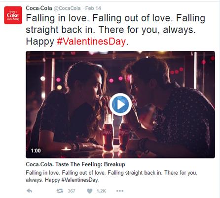 Coca Cola Tweet Example 1