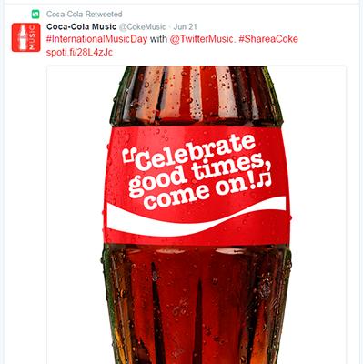 Coca Cola Tweet Example 3