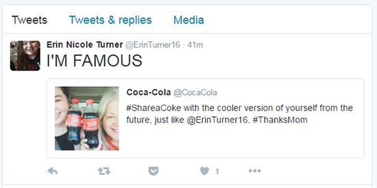 Coca Cola Tweet Example 6