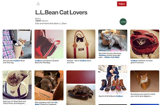 L.L. Bean Pinterest Popular Board